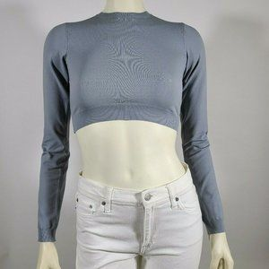 MARC JACOBS Gray Stretch Knit Crop Top - SAMPLE
